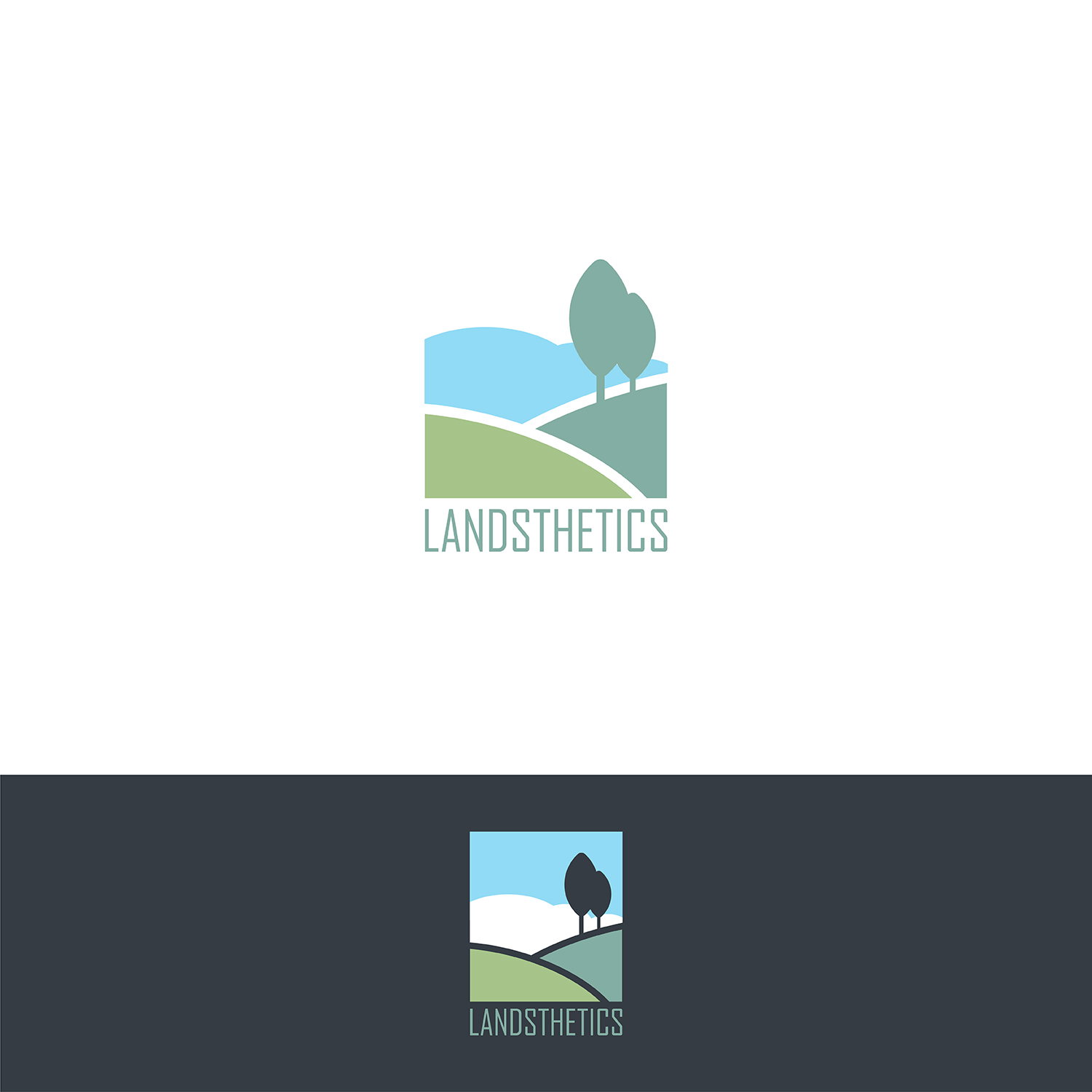 Modern, Masculine, Landscaping Logo Design for Landsthetics.