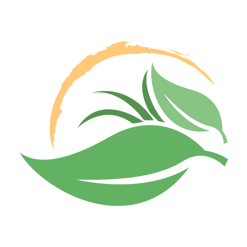Sunny Leaves Landscape Logo.