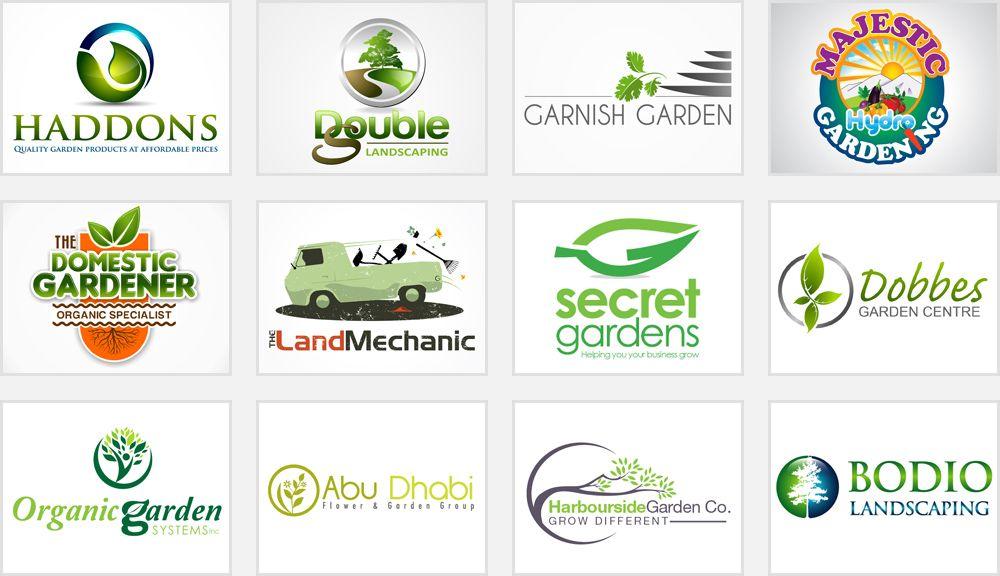 gardening and landscaping logos.