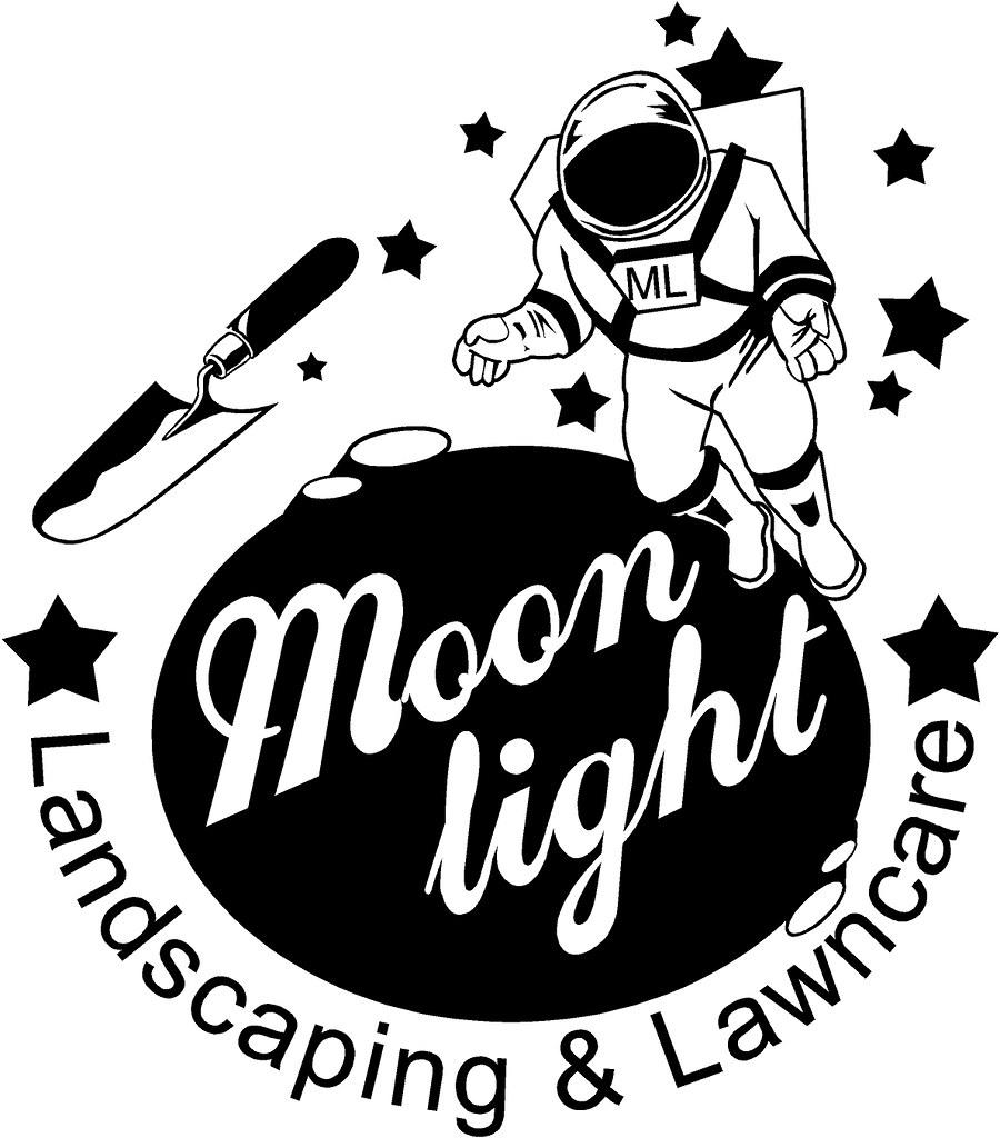 Moonlight Landscaping Logo Design.