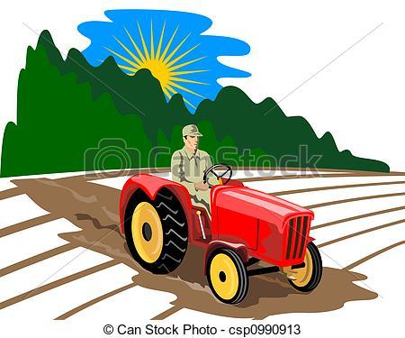 Zeichnungen von drving, Traktor, landwirt.