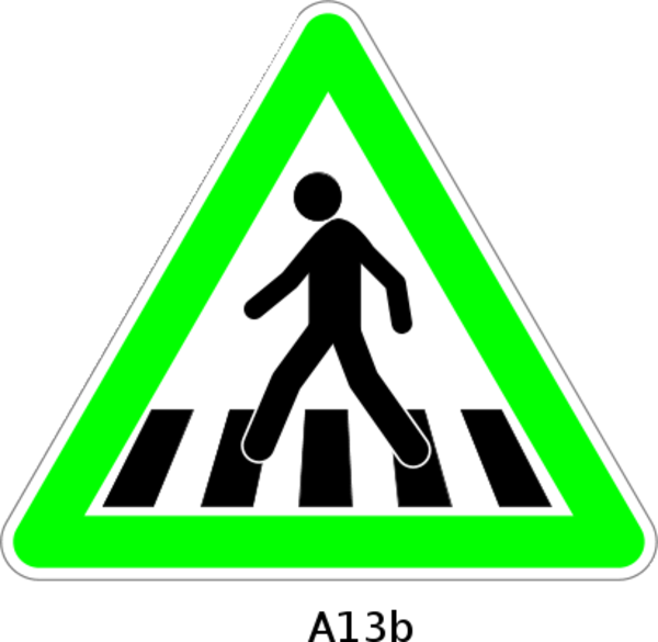 Pedestrian lane clipart.