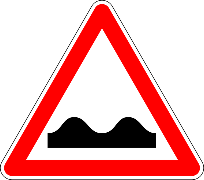 Free vector graphic: Lane Grooves, Bad Road, Road Sign.