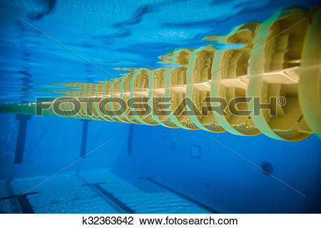 Stock Photo of Swimming Pool Floating Wave.