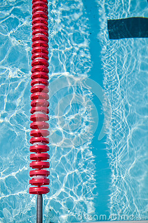 Swimming Pool And Lane Rope Royalty Free Stock Image.