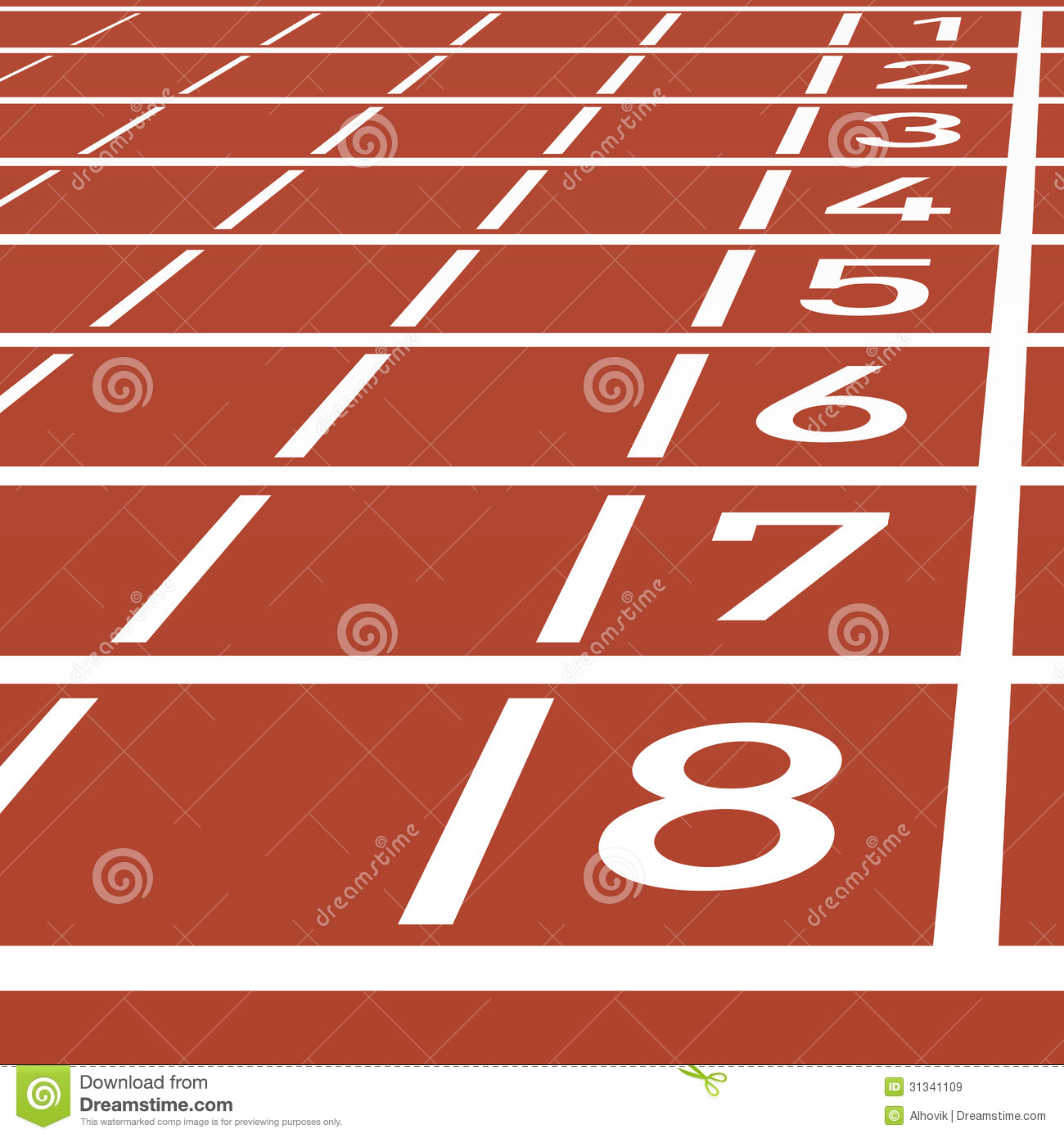 Track Lanes Clipart.
