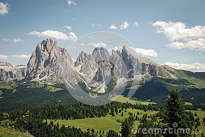 Gruppo Del Sassolungo, Langkofelgruppe, Trentino Alto Adige, Italy.