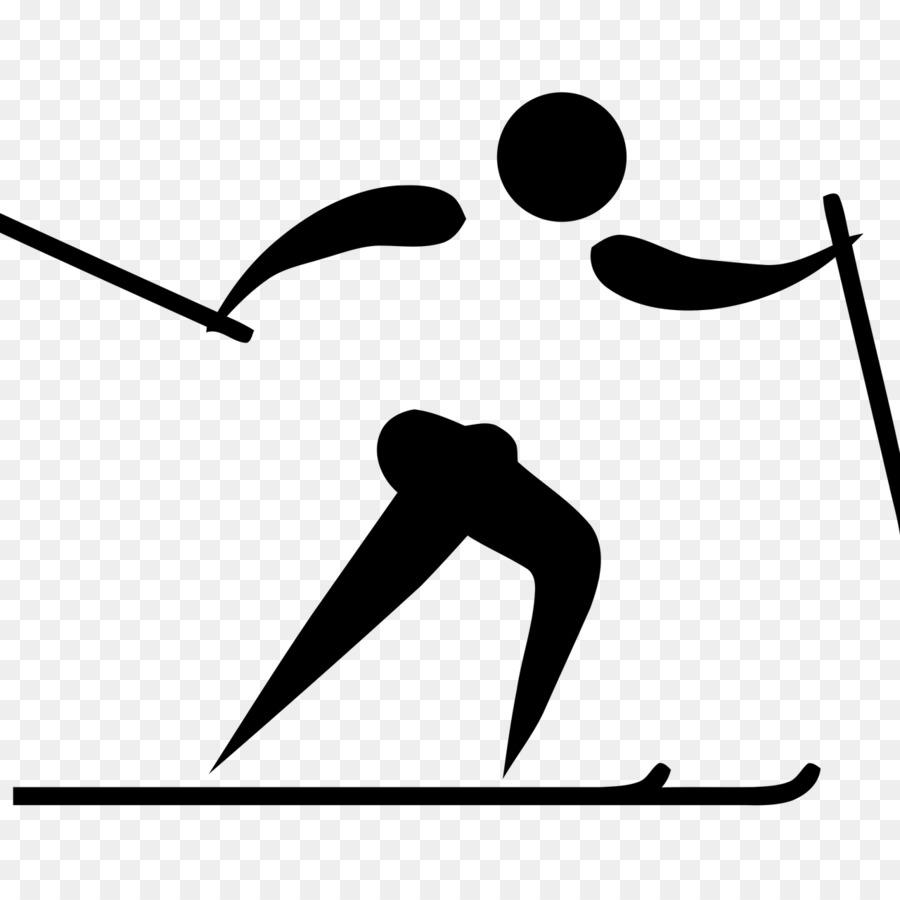 Olympische Winterspiele Langlauf.