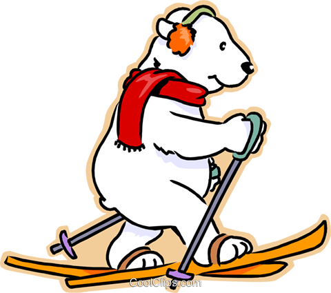 1072 Skiing free clipart.