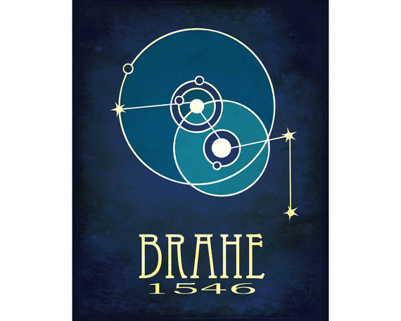 Tycho Brahe Science Art 11x14 Print Astronomy Poster by meganlee.