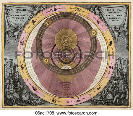 Stock Illustration of Antique Celestial Chart (hand.