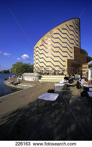 Stock Photo of Tourists at museum, Tycho Brahe Planetarium.