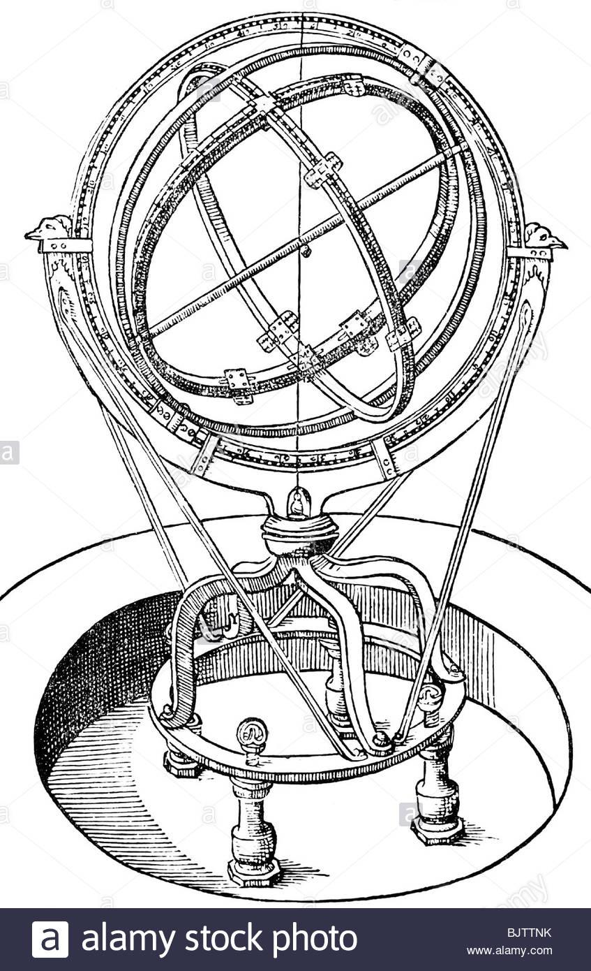 Astronomy, Instruments, Armillary Sphere, Armillae Zodiacalis.