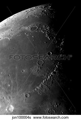 Stock Images of Craters Copernicus, Plato, Eratosthenes, and.