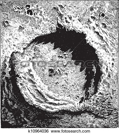 Clip Art of Surface of the Moon, showing the Copernicus impact.