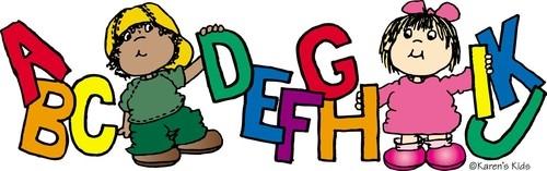 Language arts clipart for kids.