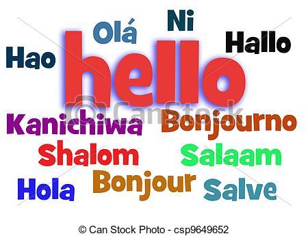 Different Languages Clipart.