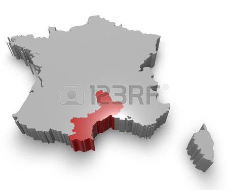 64 Languedoc Roussillon Map Stock Vector Illustration And Royalty.