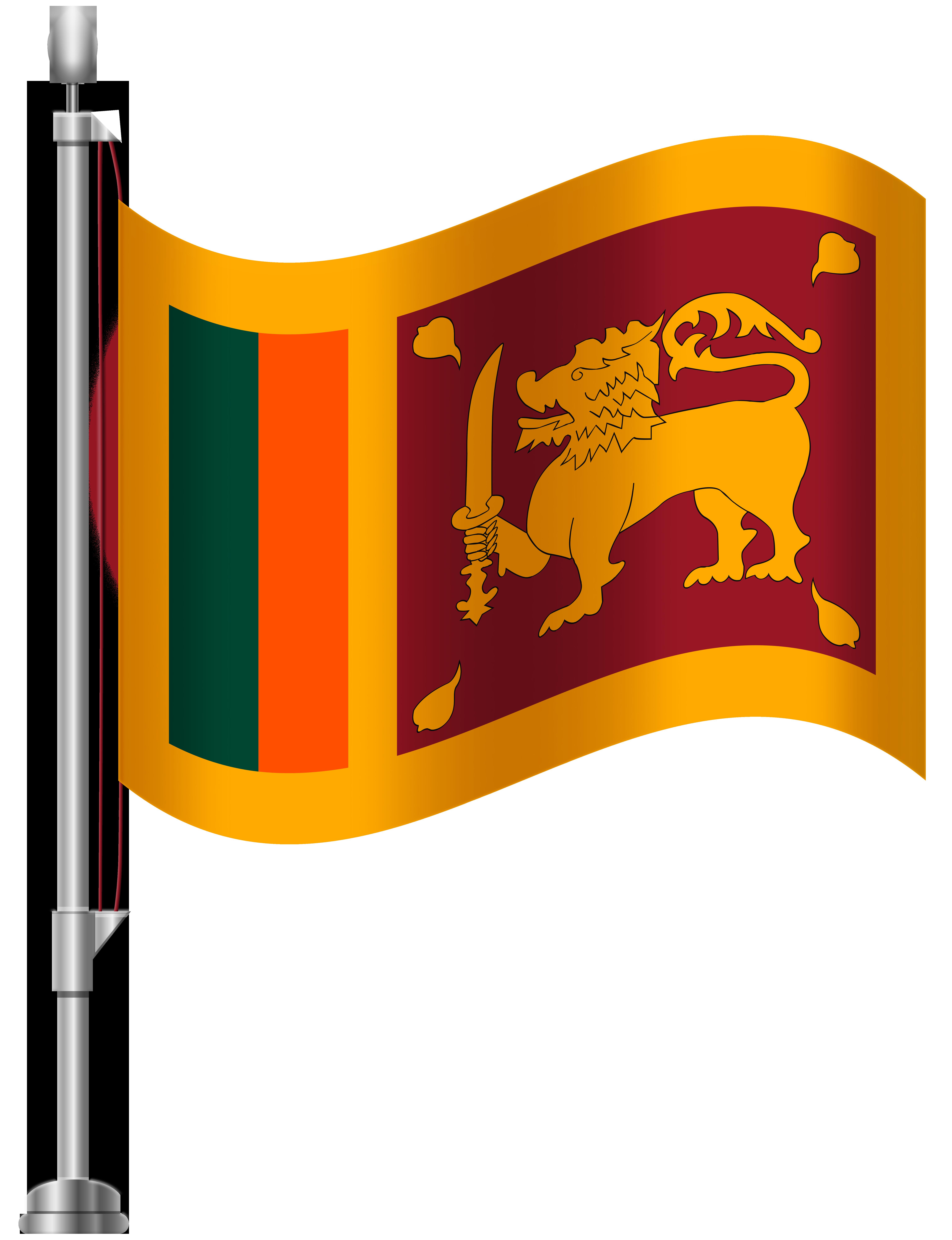 Sri Lanka Flag PNG Clip Art.