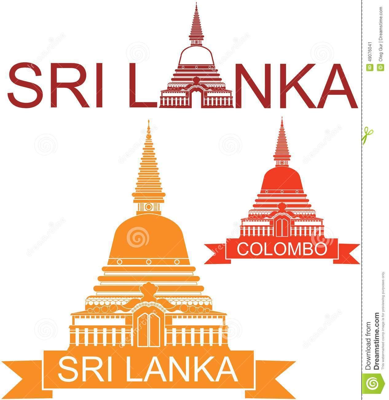Sri Lanka Stock Vector.