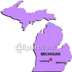 State of Michigan Showing the State Capital of Lansing and the.