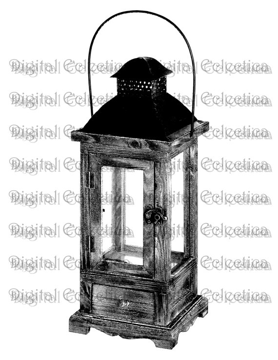 Antique Lantern Engraving. Lantern PNG. by DigitalEclectica.