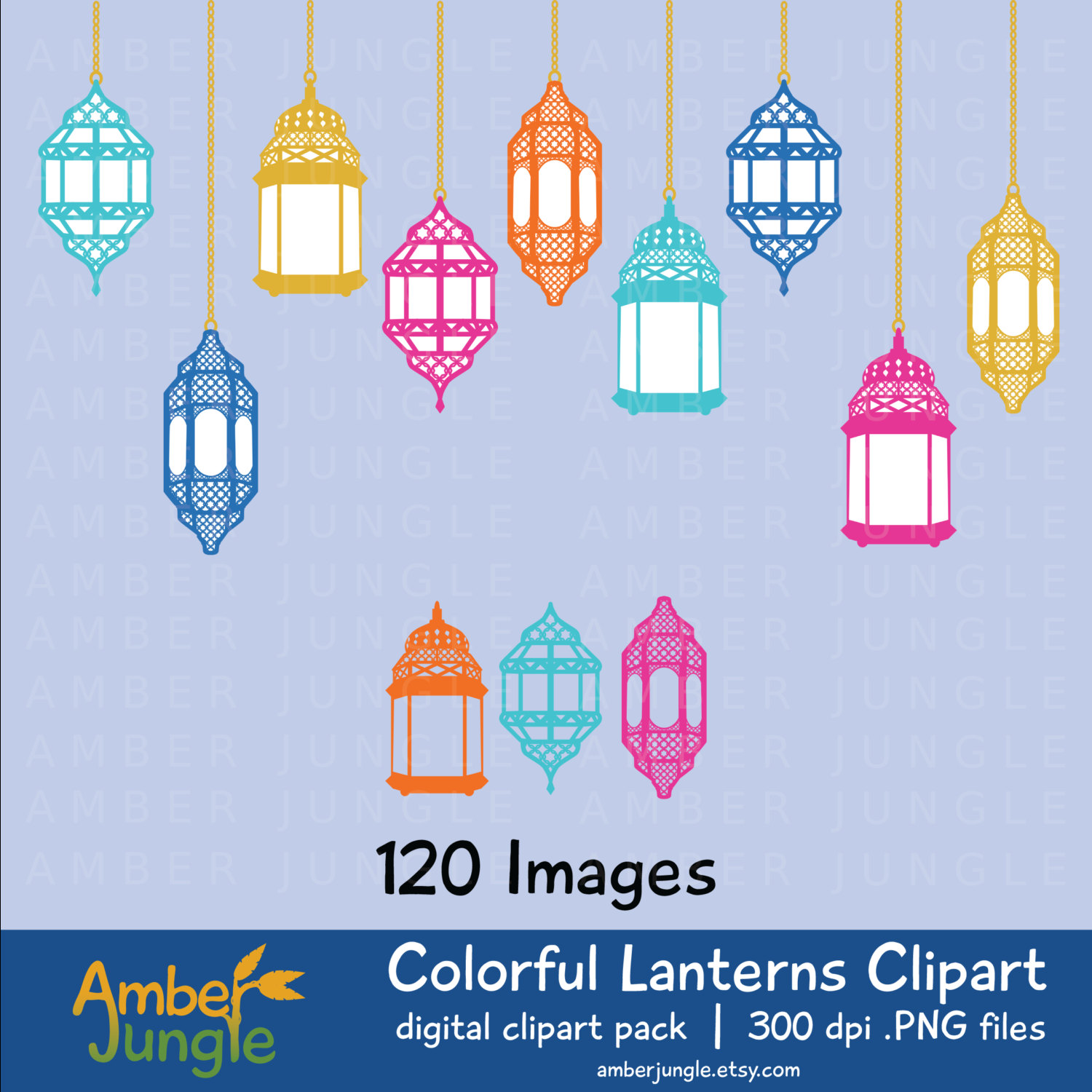 Colorful Lantern Clipart Moroccan Clip Art Eastern by AmberJungle.