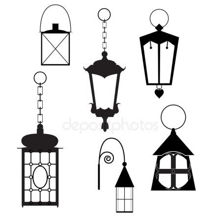 Outdoor Lanterns Clip Art.