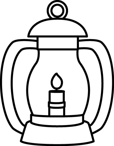 Lantern Clipart Black And White.