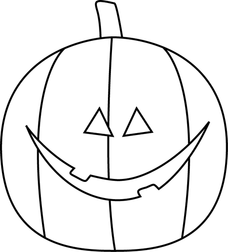 Jack o lantern black and white jack lantern clip art black and.