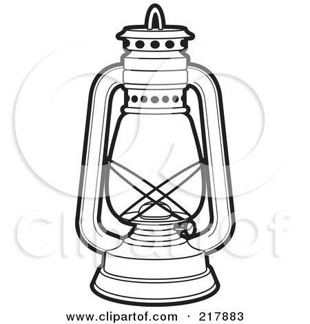Clipart of a Black and White Sri Lankan Vesak Kuudu Lantern.