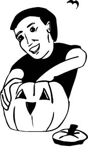 Jack O Lantern Clipart Black And White.