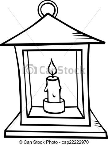 Lantern With Candle.