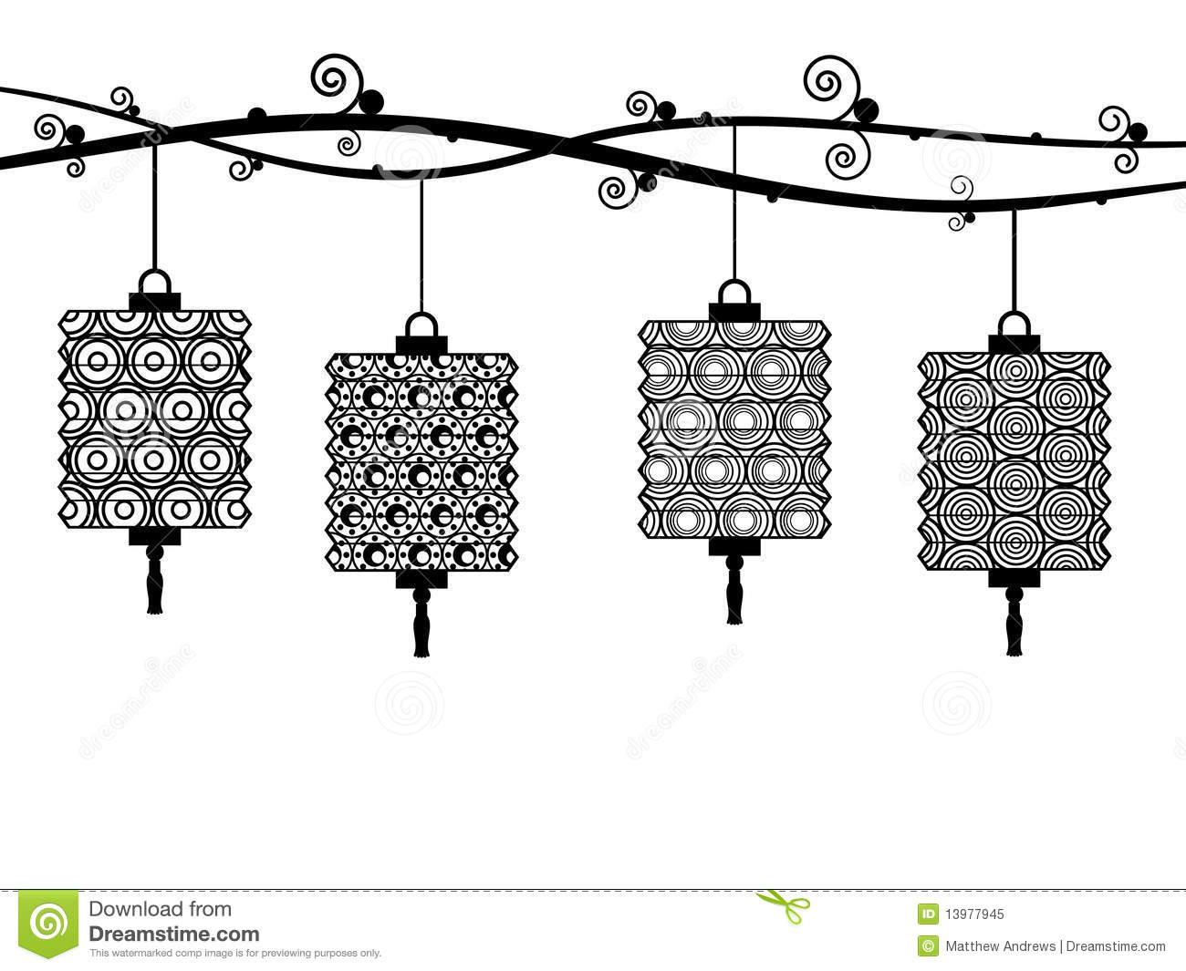 Black And White Lanterns Stock Images.
