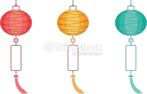 Chinese Lanterns Vector Art.