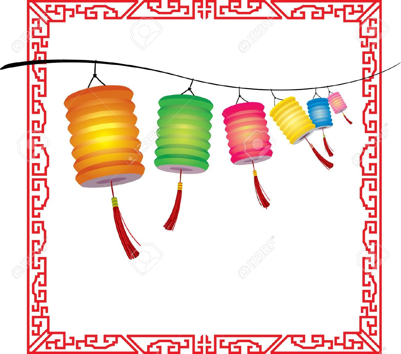 Chinese Festival Lantern Cliparts.