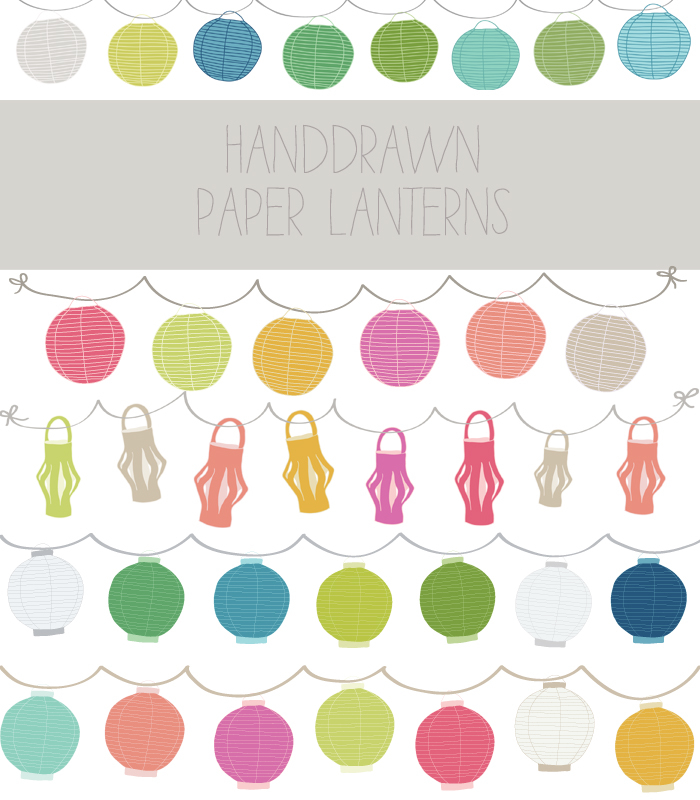Paper lantern clip art.