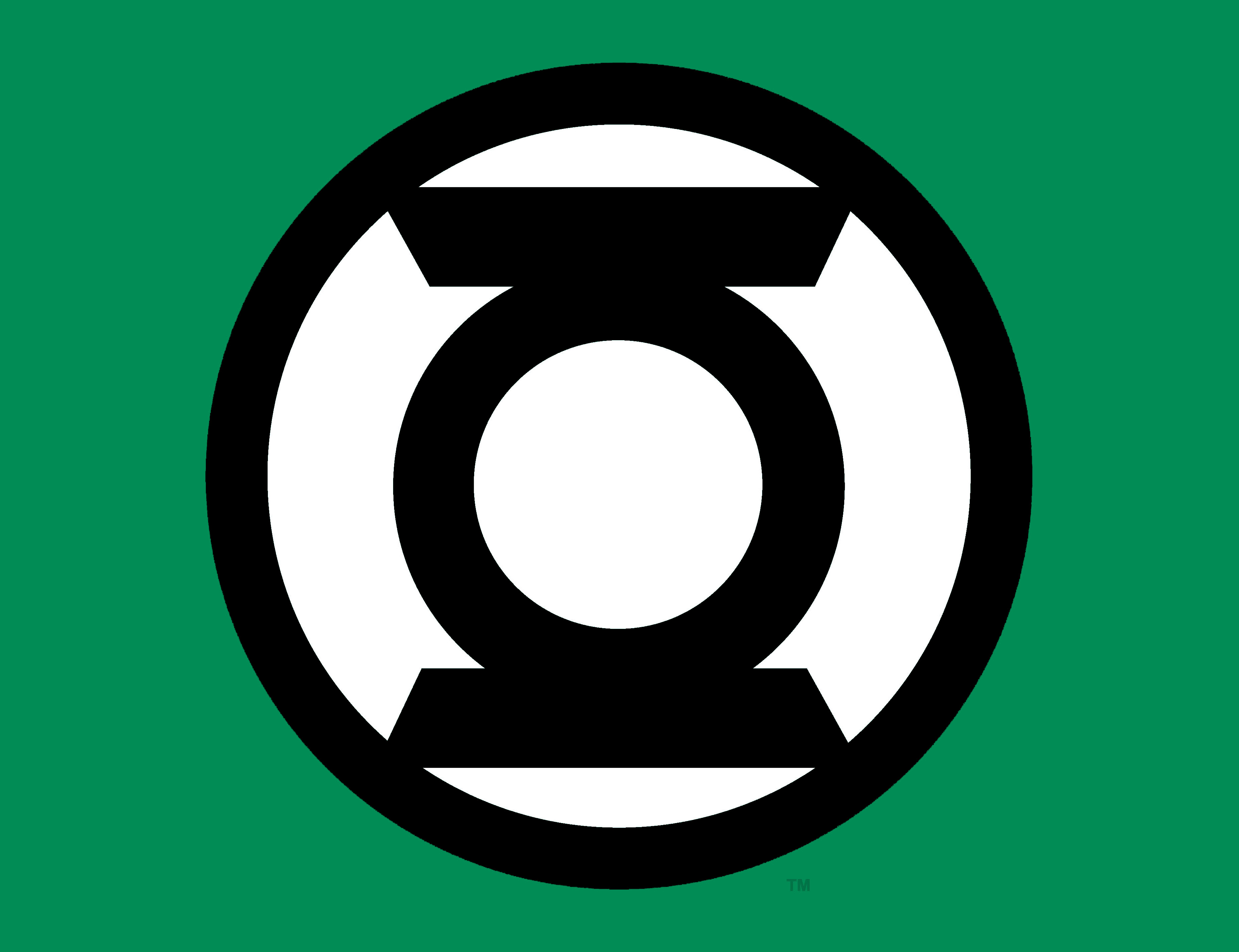 Meaning Green Lantern logo and symbol.