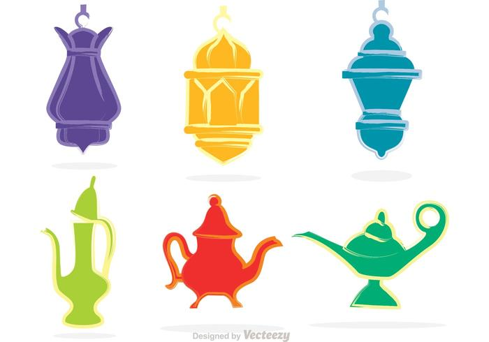 Magic Lamp And Lantern Vectors.