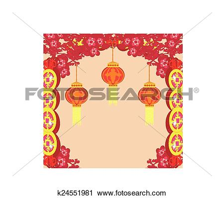 Clipart of lanterns will bring good luck and peace to prayer.