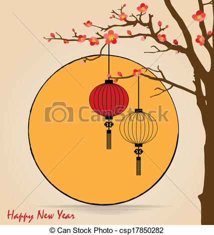 Vector of Big traditional chinese lanterns will bring good luck.