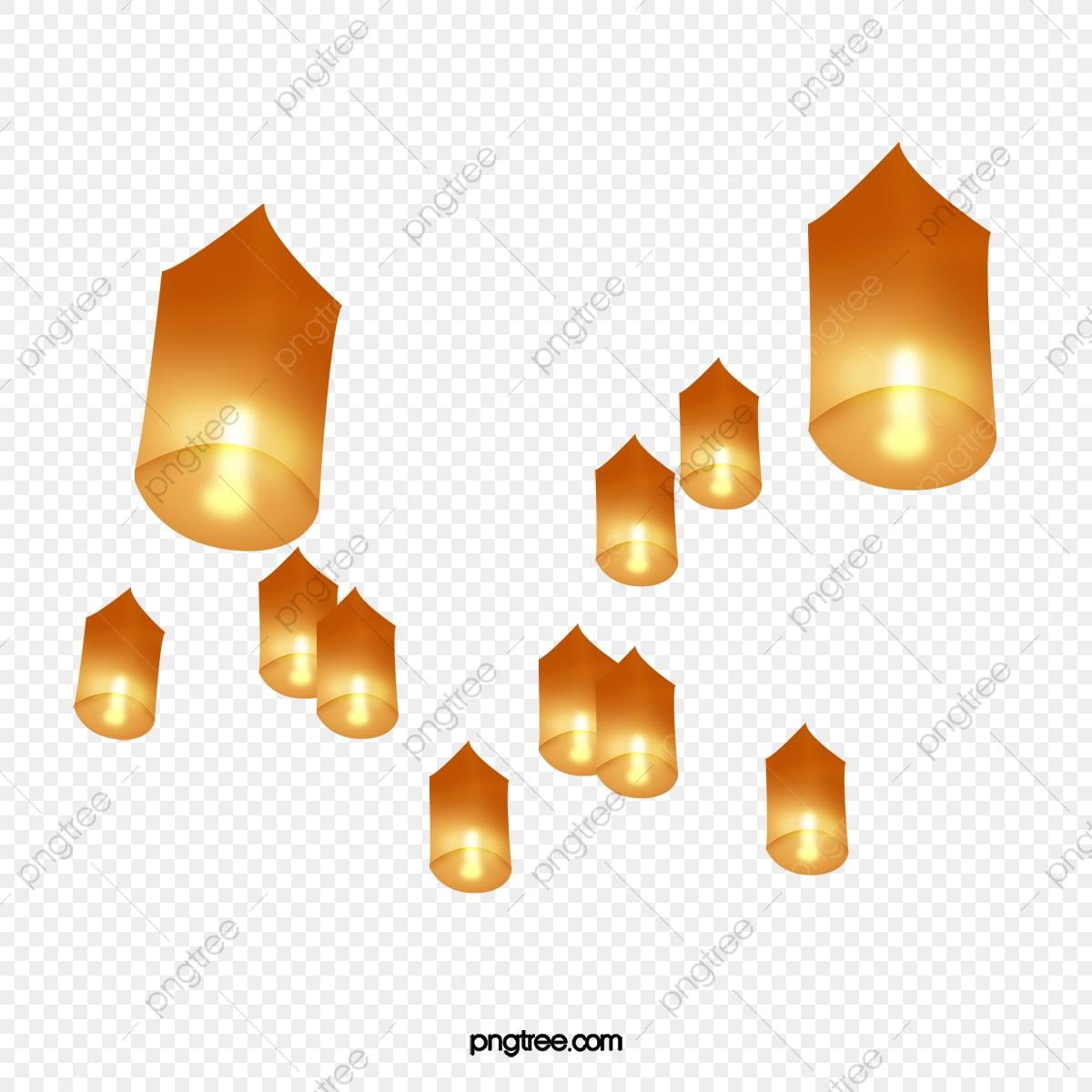 Yellow Lanterns, Float, Lanterns, Lantern PNG Transparent.