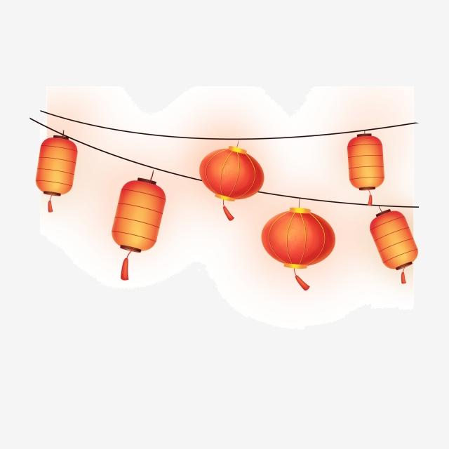 Lantern Png Free, Lanterns, Illustration Lanterns, Two Rows.
