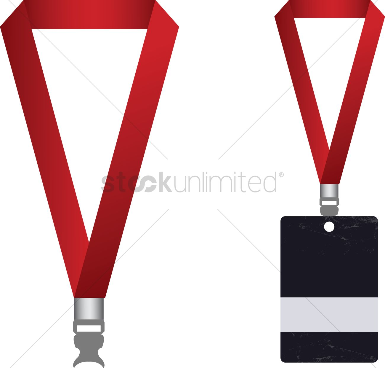 Vector of access card and lanyard Vector Image.