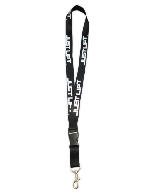 Just Lift. Lanyard/Key Chain holder (Black).