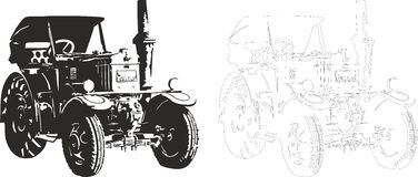 Tractor Lanz Bulldog Stock Illustrations.