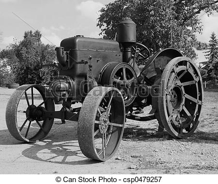 Stock Photography of old tractor.