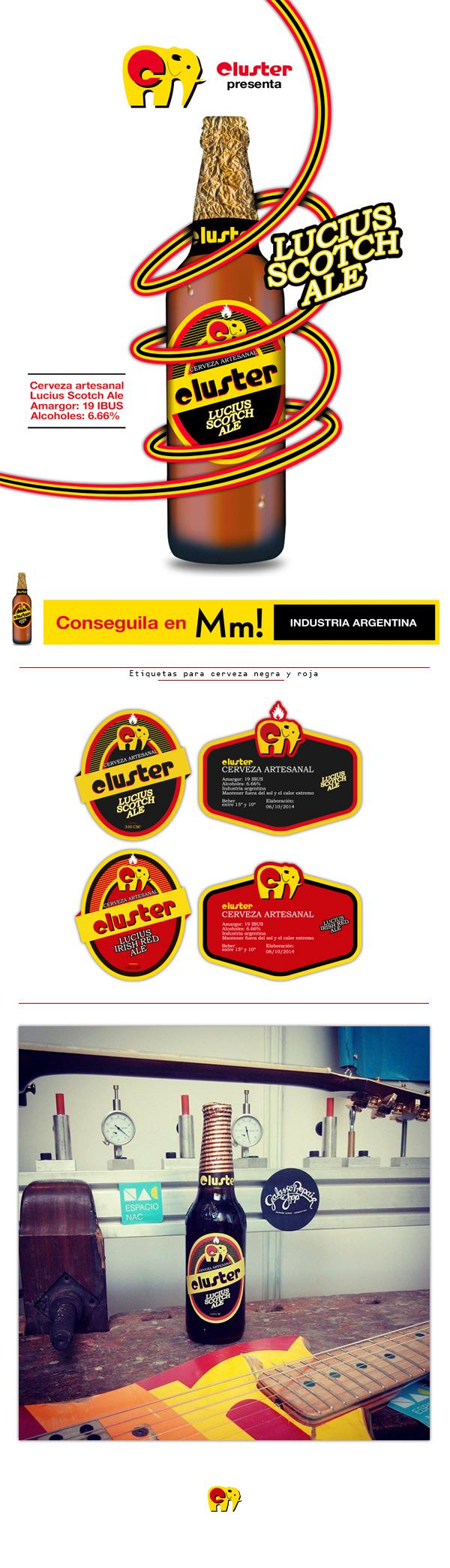 Cerveza Cluster on Behance.