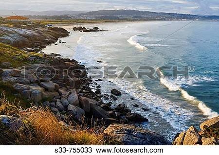 Stock Photo of Playa de La Lanzada. Provincia de Pontevedra.