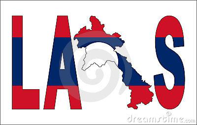 Laos map clipart.